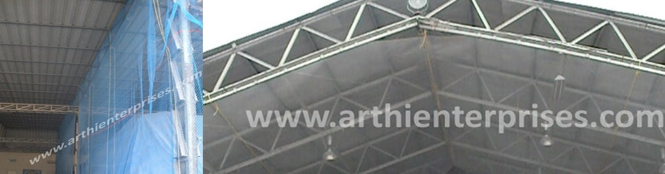 BIRDS PROTECTION NET AT WAREHOUSES, GODOWNS & AVIATION
